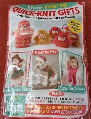 KNITTING KIT- Ava the Penguin or 3 cute chicks to knit &more  Let's Knit Kit NEW
