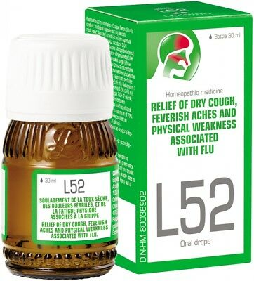 Lehning L52 For Cold & Flu 30ml UK Stock
