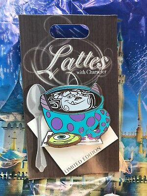Disney Parks Lattes With Character Monsters Inc. Mike Sulley Pin LE 3000 In Hand