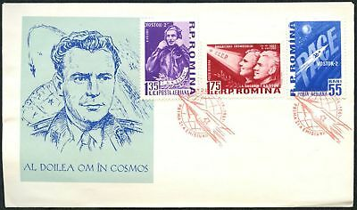 Romania 1961 Space Flight FDC First Day Cover  #C48845
