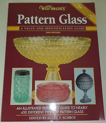WARMAN'S PATTERN GLASS A Value and Identification Guide PB 2nd Ed 450 Patterns