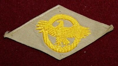 """Wwii Ww2 U.s. Honorable Discharge """"ruptured Duck"""" Patch Gold On Khaki"""