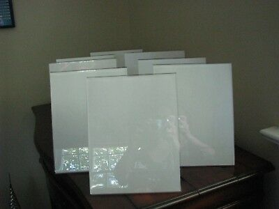 """Used Lot of 9 Vertical, slanted Acrylic/lucite sign holders 8 1/2"""" x 11"""""""
