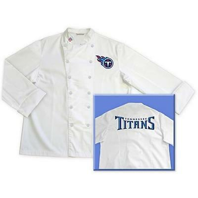 Tennessee Titans Official NFL Classic Chef Chefs Coat Jacket Tailgate Sizes: M L
