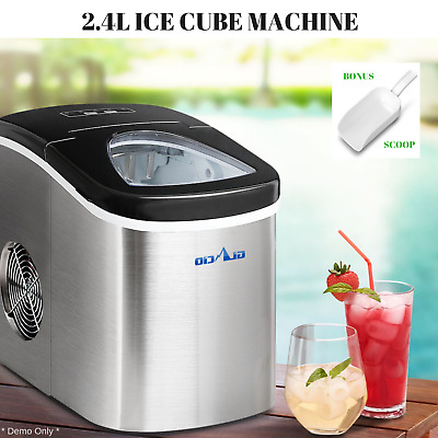 2.4L Ice Cube Making Machine Commercial Home Ice Cube Maker Portable Ice Making