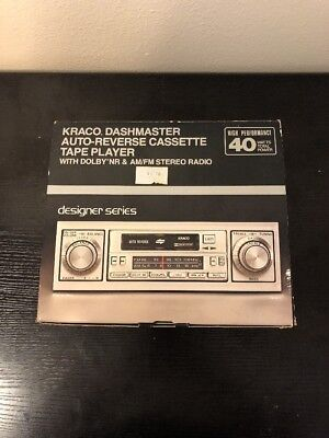 Vintage kraco etr 808b fmam car stereo with auto reverse cassette vintage kraco dashmaster reverse cassette stereo tape player amfm khp 1085 asfbconference2016 Gallery