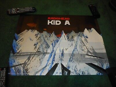 "Radiohead - Kid A - Original Ss Record Promo Poster #2 - 18"" X 24"""