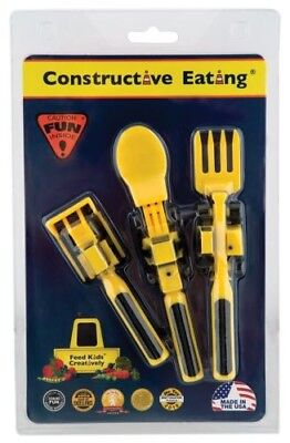 Constructive Eating Set of Construction Utensils for Toddlers, Infants, Babies