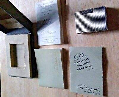 Authentic ! Silver Plated ST Dupont Lighter Ligne 1 Small Version (BOXED)