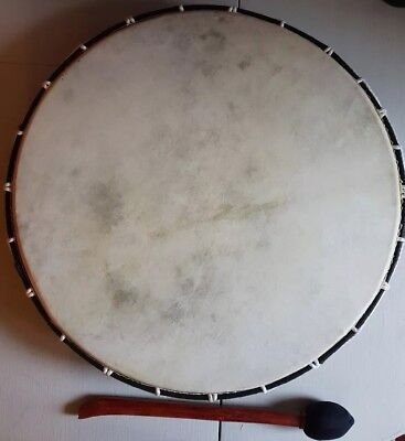 EXTRA LARGE SHAMANIC DRUM WITH BEATER~ NATIVE AMERICAN ~ 48cms ~