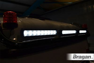 To Fit DAF XF 105 Super Space Cab Top Black Roof Bar + LED Light Bars - TYPE B