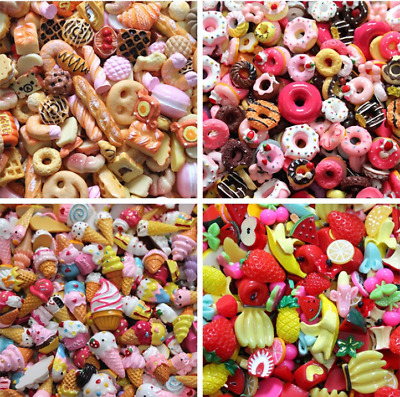 10pcs/lot  Dolls Lovely Mini Play Toy Food Cake Biscuit Donuts Miniature P