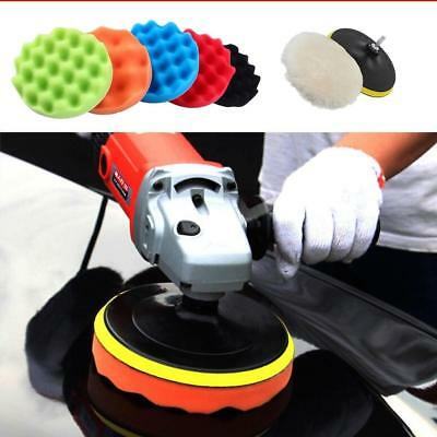"7/12 PCS Car Polisher 5""/6""/7"" Sponge Polishing Waxing Buffing Sponge Pads Kit"