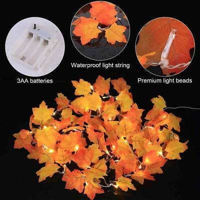 40LED Maple Leaf lights String Light Fairy Lights with Remote control Waterproof