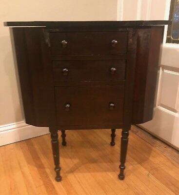 Gorgeous Vintage Martha Washington Sewing Stand Cabinet Table