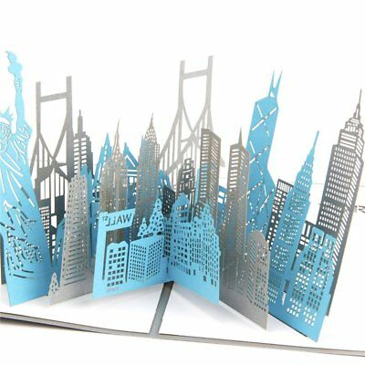 Greeting Card Three-dimensional Greeting 3D Paper-cut New York City Souvenirs FN