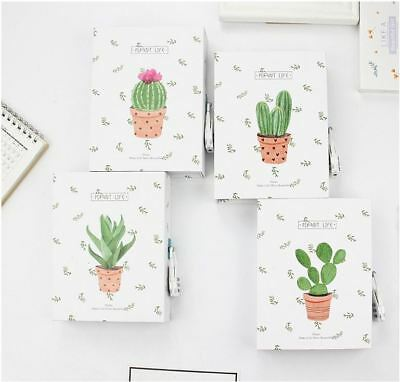 120Pages Cactus Plant Book Journal Diary Sketch-book Notebook with Case and Lock