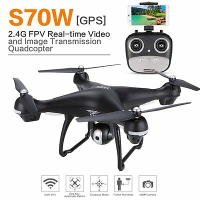4 Axes S70W Full HD 1080P Dual GPS-2.4GHz WiFi/FPV Drone Quad Copter AircraftQC