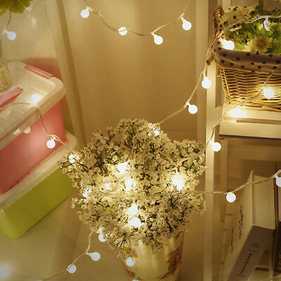 1.5M 10 LED Battery Multicolor Outdoor String Lights Holiday Party Wedding Decor