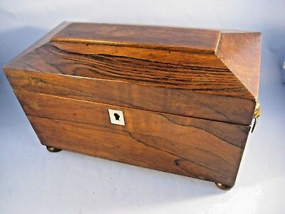 Wooden tea caddy C1830