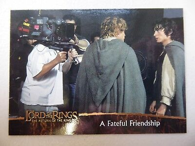 TOPPS Card : LOTR The Return Of The King  #87 A FATEFUL FRIENDSHIP