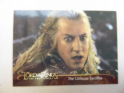 TOPPS Lord of the Rings: The Two Towers - Card #141 THE ULTIMATE SACRIFICE