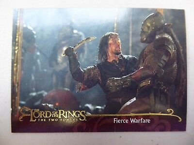TOPPS Lord of the Rings: The Two Towers - Card #69 FIERCE WARFARE