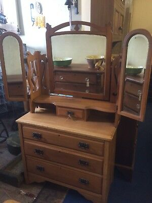 Edwardian chest of drawers with mirror/drawer
