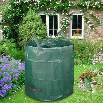 272L Large Garden Waste Bag Strong Rubbish Sack Waterproof Heavy Duty Reusable