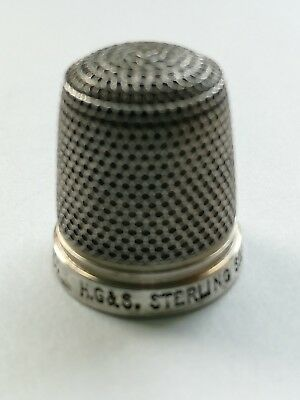 Antique Stering Silver Thimble, Henry Griffith & Son