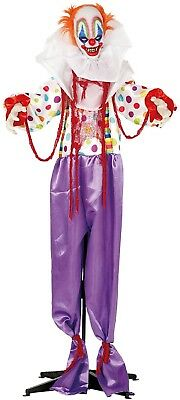 1.8m Animated Lights Sound Motion Terror Clown Halloween Party Decoration Prop