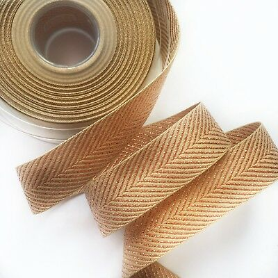 Craft Ribbon Rose Gold Metallic Glitter Chevron Zig Zag Woven 1M Berisfords