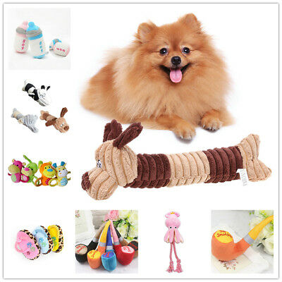Dog Pet Squeak Sound Plush Toy Pet Puppy Chew Play Funny Training Squeaking Toys