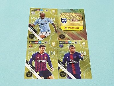 Panini Adrenalyn XL FIFA 365 2019 Set 5 - 4 x Premium Gold  Limited Edition