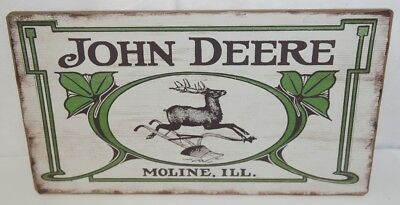 Open Roads LP67209 John Deere Vintage Logo Barn Wood Sign