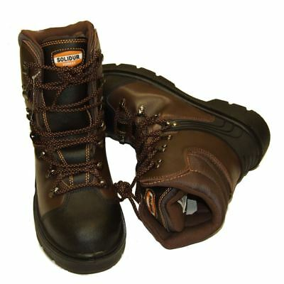 Chainsaw Safety Boots Solidur Forestry Arborist Size 8 Euro 42 Class 1