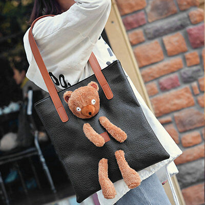 Stylish Autumn New Handbag Fashion Models Simple Bear Doll Large Capacity Bag VY