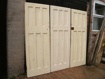 Reclaimed 1930s 6 panel internal doors. (Set of 9 available)