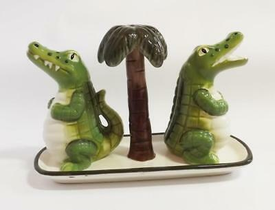 Croc-O-Dial Salt And Pepper Shakers - New