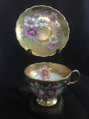 Vintage Original Rosina Gold And Floral Tea Cup And Saucer Set