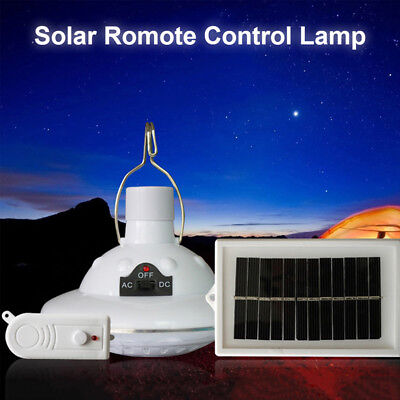 22 LED Solar Powered Camping Lamp Remote Control Hanging Outdoor Indoor Light