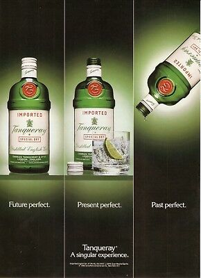 """Tanqueray London Dry Gin--1991 Advertisement--""""A Singular Expierence"""""""