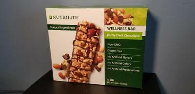 Amway Nutrilite Bar - Nutty Dark Chocolate - Wellness Meal Protein Fiber 12 Bars
