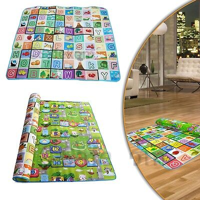 Kids Crawling Educational Game Baby Play Mat 200x180cm Playmat