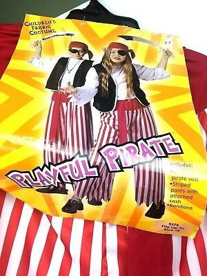 Playful Pirate Halloween Bottoms Costume Child Fits Up To Size 12