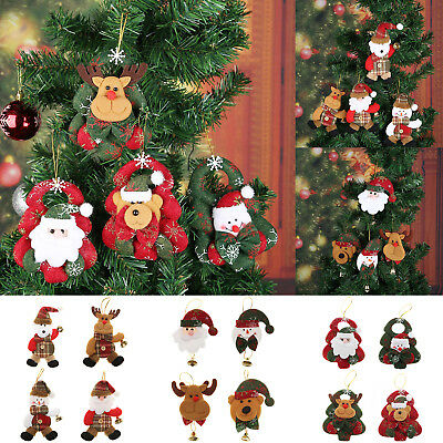 Cute Doll Bell Christmas Tree Hanging Ornament Xmas New Year Festival Decor Gift