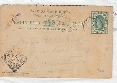 Cape of Good Hope QV 1899 Card To Queenstown Postal History J2300
