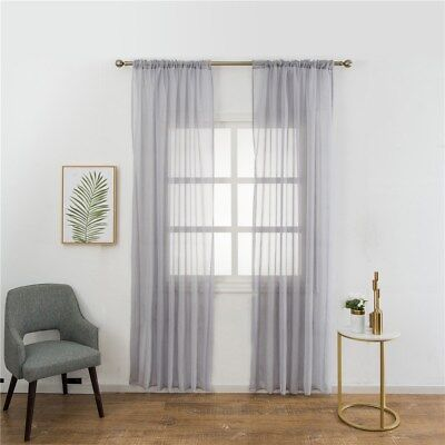 1 Pc Curtain Exquisite Flimsy Voile Curtains for Bedroom Living Room (100X200cm)