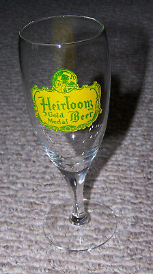 NOS Heirloom Gold Medal Beer Glass South Bethlehem Brewing 7 Inches Tall