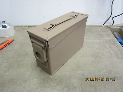 Military 7.62 MM Ammo Can .30 Cal, 200 Cartridges, M13 Excellent Tan Painted